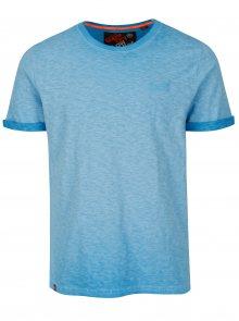 Modré pánské žíhané tričko s krátkým rukávem Superdry