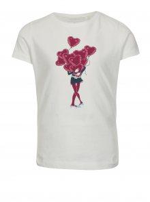 Bílé holčičí tričko s potiskem name it Veen