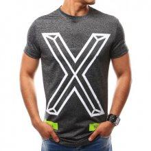 Pánské tričko s potiskem grafitové