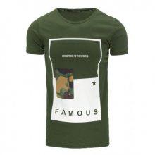 Pánské tričko se zipem zelené