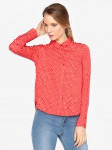Krémovo-červená vzorovaná košile VERO MODA Nicky