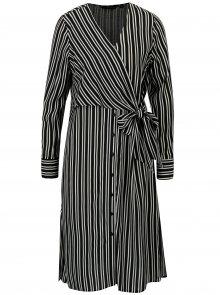 Černé pruhované košilové šaty Dorothy Perkins
