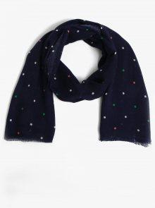 Tmavě modrý puntíkovaný šátek Dorothy Perkins