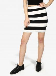 Černo-bílá pruhovaná sukně Haily\'s Lola