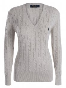 Krémový prémiový svetr s ornamentem od Ralph Lauren Size: M