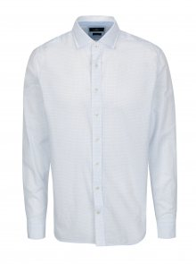 Modro-bílá slim fit košile s drobným vzorem Hackett London Diddy
