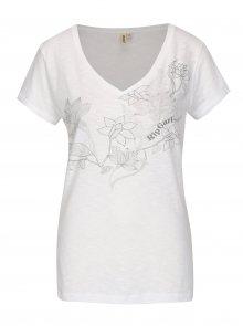 Bílé dámské tričko s potiskem Rip Curl