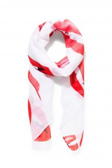 Desigual bílý šátek Lips Rectangle