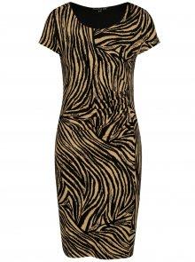 Černo-hnědé pouzdrové šaty se vzorem Smashed Lemon