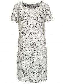 Krémové vzorované šaty s krátkým rukávem VILA Tinny