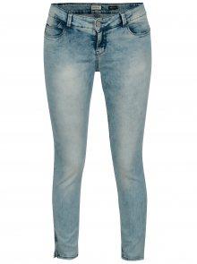 Modré dámské skinny džíny s vyšisovaným efektem Cars Tippa