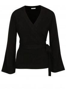 Černý zavinovací svetr Jacqueline de Yong Bella