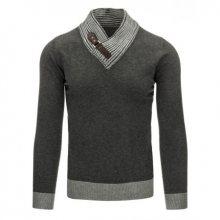 Pohodlný pánský svetr do v antracitový