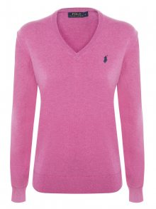 Růžový prémiový svetr od Ralph Lauren Size: M