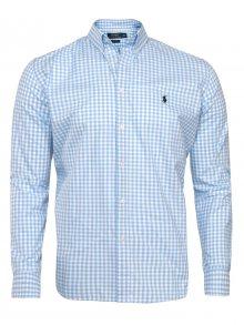 Světlo modrobílá prémiová košile od Ralph Lauren Velikost: M