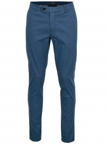 Modré modern fit chino kalhoty kalhoty Fynch-Hatton