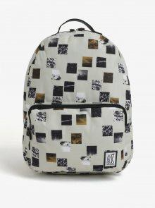 Béžový batoh s barevným potiskem The Pack Society 18 l
