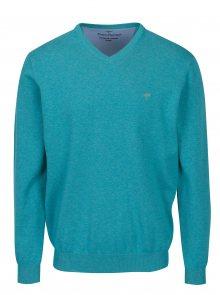 Tyrkysový svetr s véčkovým výstřihem Fynch-Hatton