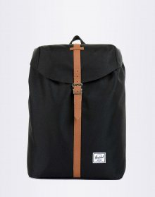 Herschel Supply Post Mid-Volume Black/Tan Synthetic Leather