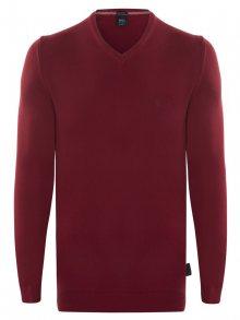 Bordový elegantní svetr od Hugo Boss Velikost: M