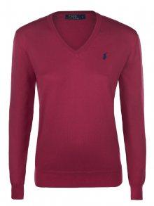 Červeno-modrý prémiový svetr od Ralph Lauren Size: M