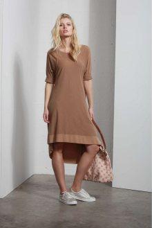 Deha hnědé stylové šaty