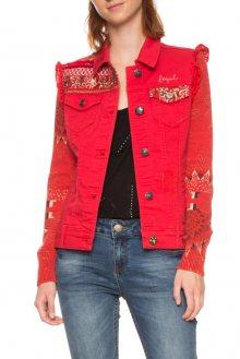 Desigual červená džínová bunda Kyle