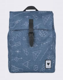 Batoh The Pack Society Square Blue with White Embroidery