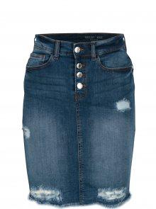Modrá džínová sukně s potrhaným efektem Noisy May Lexi