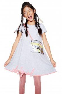 Desigual šedé dívčí šaty Cheyene