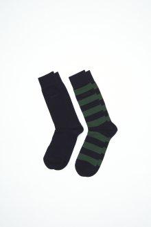 Ponožky GANT O1.2-PACK BAR STRIPE AND SOLID SOCK