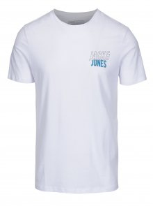 Bílé slim fit tričko s potiskem Jack & Jones Booster