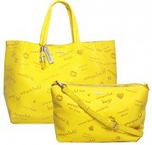 Desigual žlutá velká kabelka Tell Me Cuenca