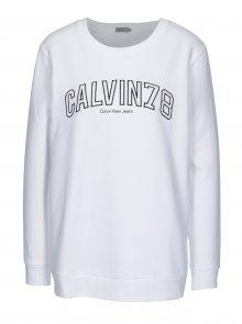 Bílá dámská mikina s výšivkou Calvin Klein Jeans Core