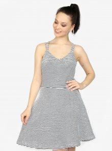 Modro-bílé pruhované áčkové šaty Superdry