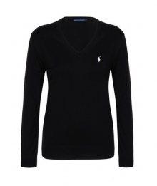 Černo-bílý prémiový svetr od Ralph Lauren Size: XS