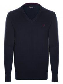 Tmavě modrý svetr z prémiové bavlny od Fred Perry Size: M