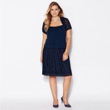 Venca Krátká sukně s krajkou námořnická modrá L