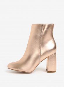 Růžovozlaté kotníkové boty MISSGUIDED