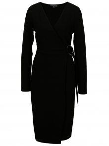 Černé pouzdrové šaty se sponou Dorothy Perkins Tall