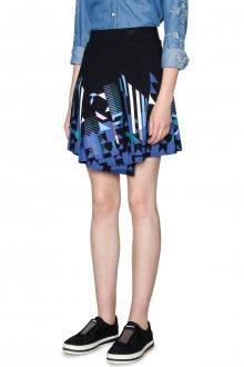 Desigual černá sukně Aunice s geometrickými vzory  - M