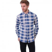 TWOTHIRDS Skye Check - Antique White & Northern Blue L