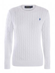 Bílý prémiový svetr s ornamentem od Ralph Lauren Size: M