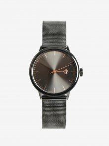 Tmavě šedé metalické dámské hodinky CHPO Nando Mini Gun