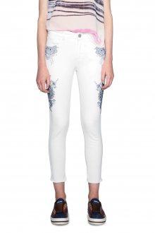Desigual bílé džíny Evens s mandalami