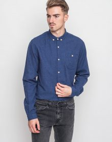 Knowledge Cotton Solid Col. Flannel Estate Blue M