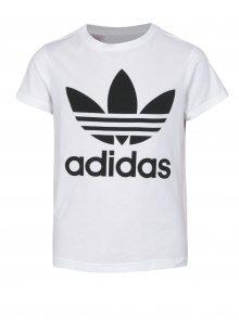 Bílé klučičí tričko s potiskem adidas Originals Inhaus.cz