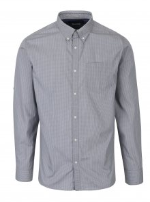 Šedá slim fit košile s jemným vzorem Jack & Jones Bosco