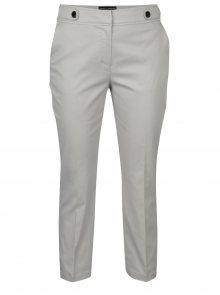 Světle šedé zkrácené kalhoty s ozdobnými knoflíky Dorothy Perkins