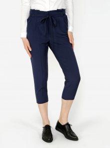 Tmavě modré zkrácené kalhoty Miss Selfridge Petites